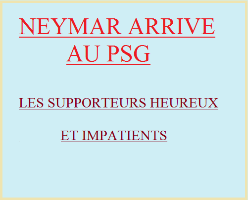 Neymar au PSG en ligue 1